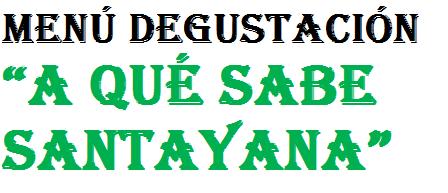 Menú Jorge Santayana